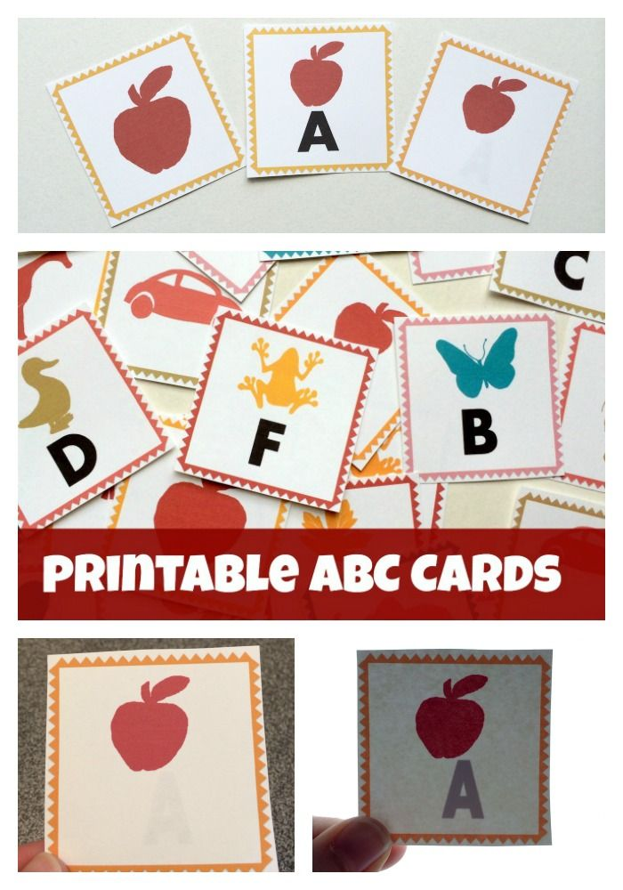 Printable ABC Letter Cards from Lalymom - These printable cards come in three formats- flash cards, memory match and magic reveal for use wi...
