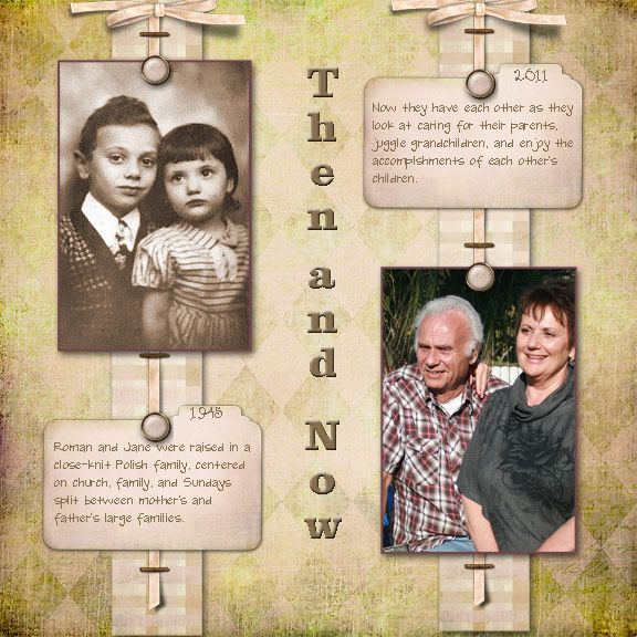 scrapbooking layouts for sisters | Some More New Heritage Scrapbook Pages