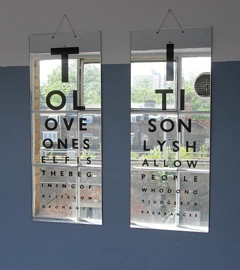 Oscar Wilde meets optometry.  Love these.  I do similar signs for my A-frame sign outside the office