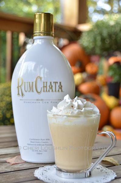 Pumpkin Pie White Hot Chocolate.  -white chocolate chips, heavy whipping cream, half & half, RumChata, pumpkin, pumpkin pie spice and whipped cream.