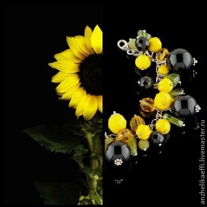 Солнечный браслет. Серебряные браслеты из натуральных камней.