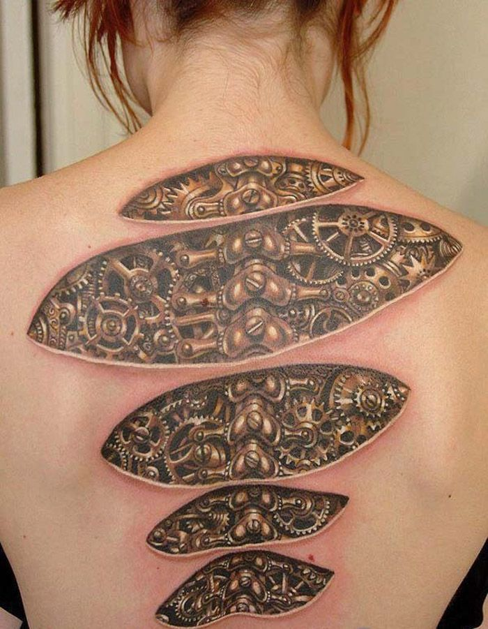 18 Optical Illusion Tattoos That Will Make You Take A Second Look