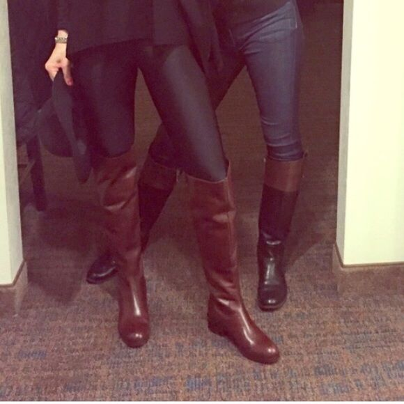 Sesto  Meucci Italian leather over the knee boot Beautiful Italian leather over the knee leather riding boots with zipper back. Super chic. Look great with everything! Like new. host pick Sesto Meucci  Shoes Over the Knee Boots
