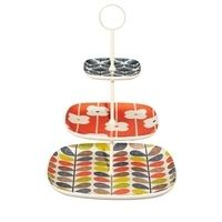 Orla Kiely 3 Tier Cake Stand with Multistem Print