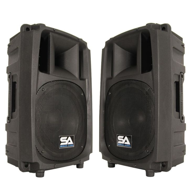 L Wave-10 - Pair of 2-Way 10 Inch Powered PA Speaker Cabinets