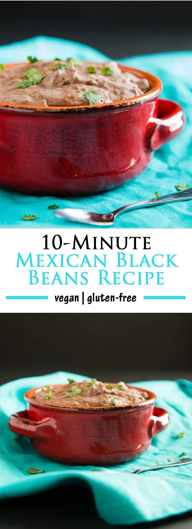 10-Minute Mexican Black Beans Recipe | Take your go-to meal up a notch by making these healthy vegan beans. No extra time, ALL the extra flavor and deliciousness | www.vegetariangastronomy.com | #vegan #glutenfree