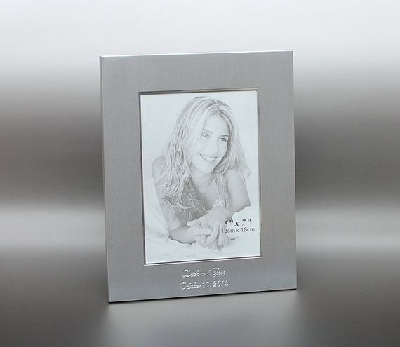 Personalized 5x7 photo frame  Engraved photo frame   by Newfavors