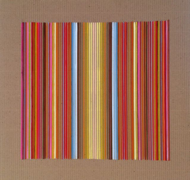 Colonnade ii -  gouache on corrugated card by Sarah Guppy @ Visual Culture