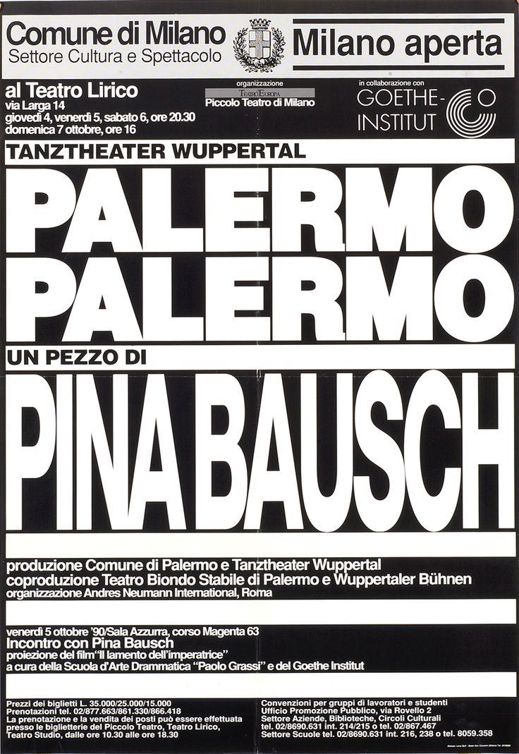 1990/91 Pina Bausch, Tanztheater Wuppertal – Palermo Palermo, Milano Aperta, Teatro Lirico