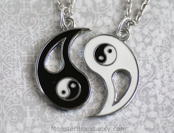 Yin Yang Necklaces Silver Best Friend Jewelry Ying by MonsterBrand, $20.00