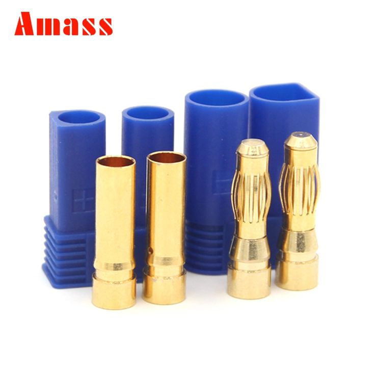 >> Click to Buy << 2sets Amass 5.0mm EC5 Banana Plug High Current 100A With Sheath Temperature Sheathed Gold Bullet Plug #Affiliate