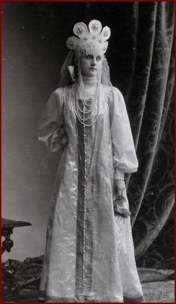 1903 Russian Costume Ball Princess Maria Lobanov Rostovsky, later on Countess Bezobrasov
