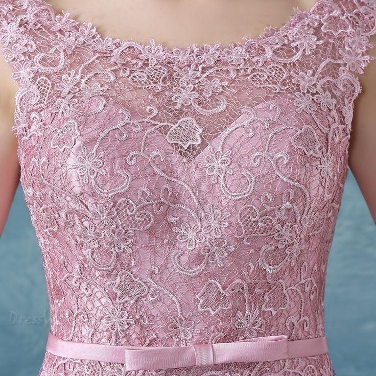 SUMINISTROS Dresswe.comCorreas elegante Bowknot vestido rodilla vestido de Cóctel de encaje vestidos de cóctel 2016 (4)