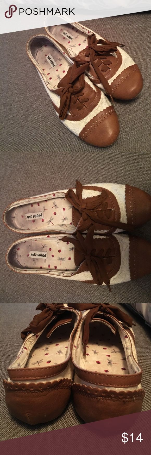 Not Rated Lace and Leather Oxfords Not Rated Lace and Leather Oxfords in Great Condition and Super Comfy! Not Rated Shoes