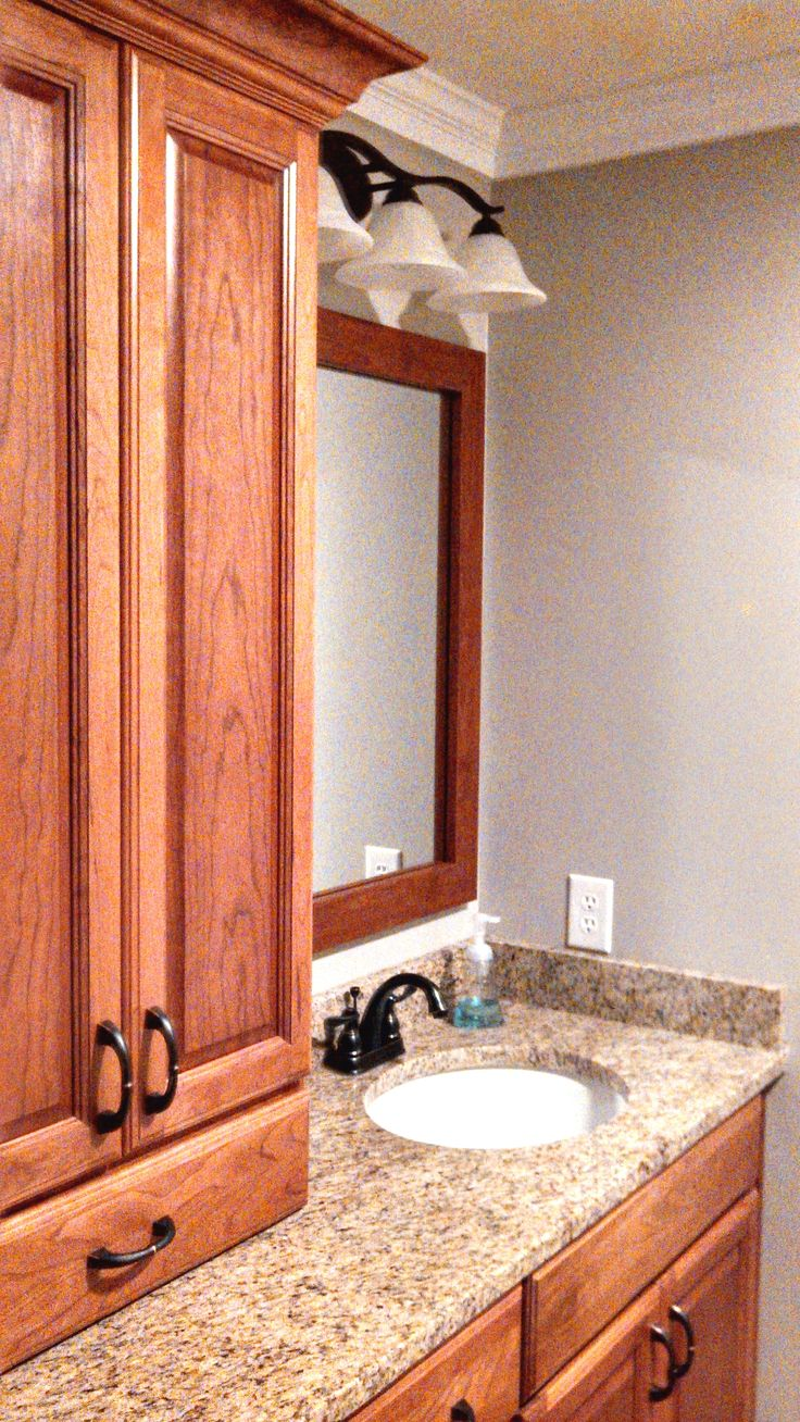 Elegant MirrorMate Mirror Makeover With Frame Style Cherokee Natural Cherry  #iframedmymirror