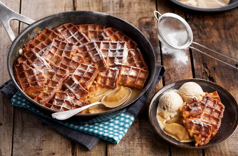 Toffee Apple Waffle Pudding - Tesco Real Food - Tesco Real Food