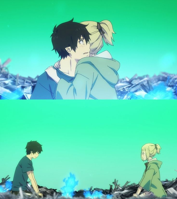 Rin and Shiemi. They always free each other from their self-imposed prisons. Blue Exorcist.
