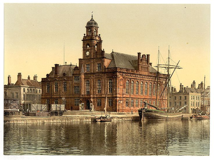 Norfolk, Great Yarmouth Town Hall, England, in the 1890's