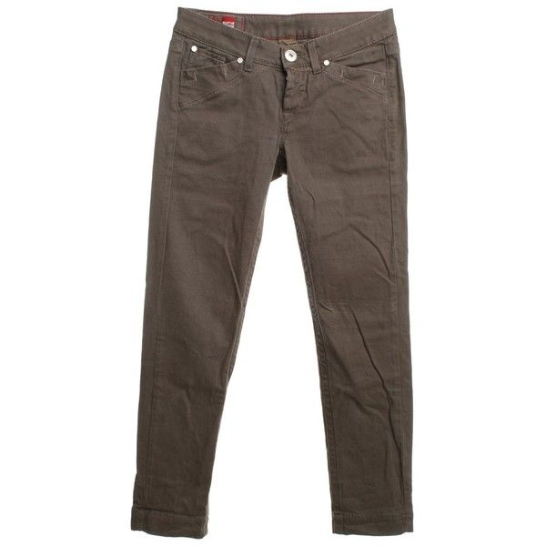Pre-owned Jeans in brown ($88) ❤ liked on Polyvore featuring jeans, brown, loose fitting jeans, button-fly jeans, loose jeans, 5 pocket jeans and marithe francois girbaud jeans