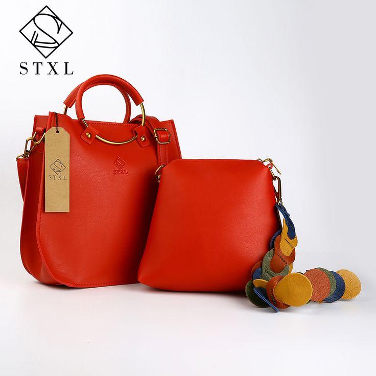 STXL 2pcs Handbag Small Composite PU Top Handle Bags Leather Women's Handbags red Messenger bag STXLB001-in Top-Handle Bags from Luggage & Bags on Aliexpress.com | Alibaba Group