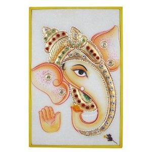 Ganesha Folk Art Embossed Miniature Painting on Marble Plate (Kitchen)  http://documentaries.me.uk/other.php?p=B0069KIZHK  B0069KIZHK