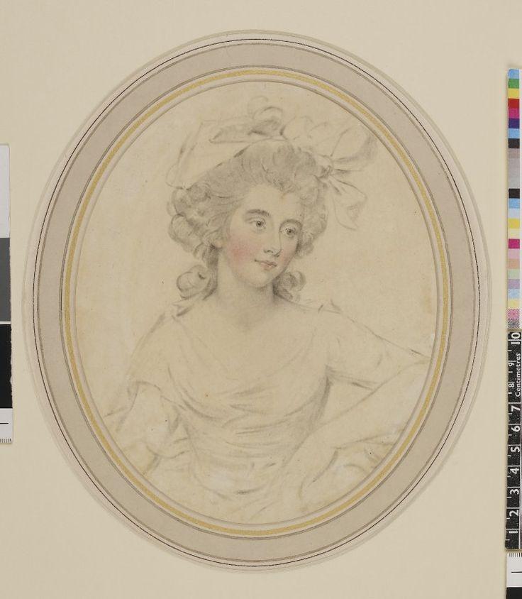 John Downman, Portrait of Georgiana, Duchess of Devonshire, 1784, Coloured chalks and stump