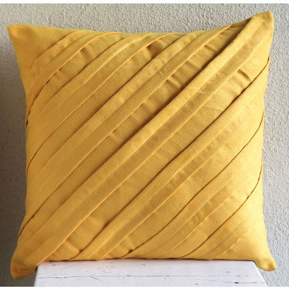 Modern Sofa Contemporary Mustard Yellow Throw Pillow Covers x Inches Suede Pillow Cover in Mustard Yellow