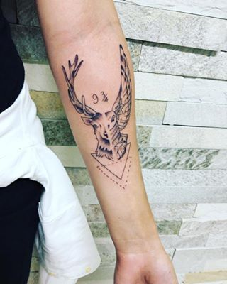 A hybrid creature that has so much meaning. | 16 Subtle Harry Potter Tattoos That Are So Damn Magical