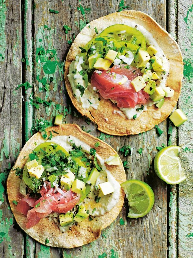 Raw Tuna And Avocado Tortilla | Donna Hay