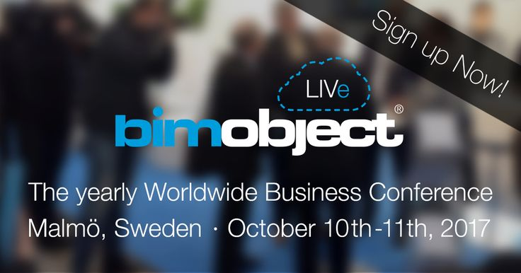 BIMobject LIVe is a two-day conference in Malmö, Sweden for building and interior product manufacturers and construction companies.