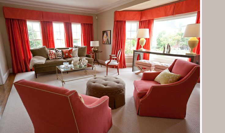 49 best images about living room ideas on pinterest for Red and taupe living room ideas