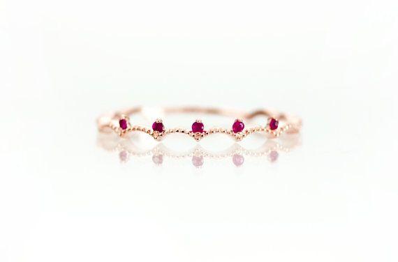 Krone Rubinring, 14 k massiv Gold, Rubin Ring Rotgold, einfache Rubinring, Ring Rubin, Gold Ring Ruby, natürlichen Rubin, echte Rubinring, Ruby
