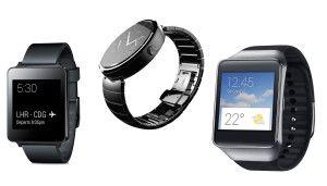 LG G Watch, Motorola Moto 360, Samsung Gear Live: Specs
