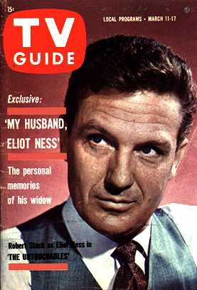 Robert Stack on  TV guide cover