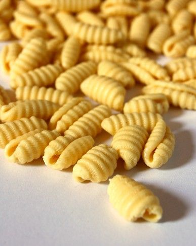 Malloreddus pasta shape from Sardinia
