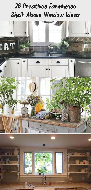 26 creatives farmhouse shelf above window ideas above window decor shelf above window on farmhouse kitchen window id=13333