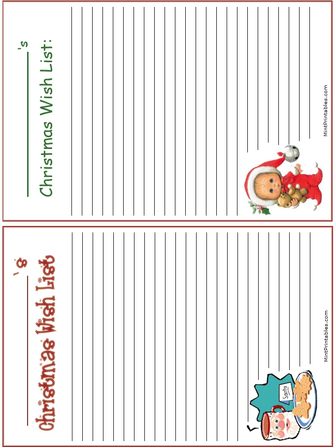 44 best Christmas Binder images on Pinterest Natal, Printables - Kids Christmas List Template