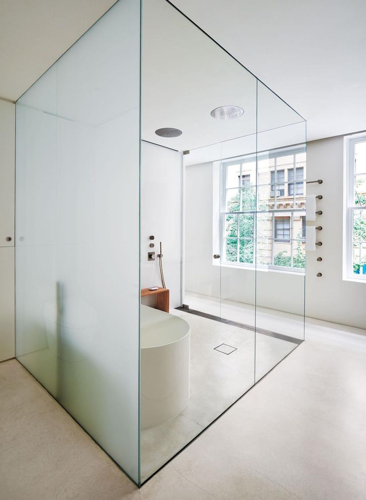8 best images about glass bathroom design on pinterest for Townhouse bathroom designs