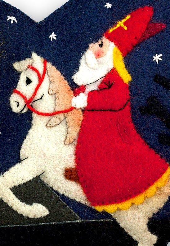 Felted Sinterklaas on Horse.....beautiful!