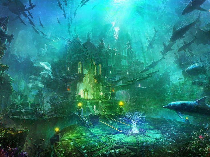 underwater castle castles in the air pinterest