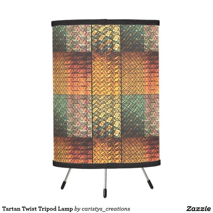Tartan Twist Tripod Lamp