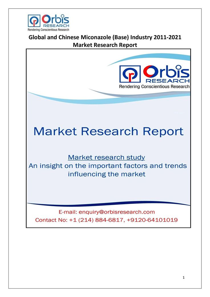 The 'Global and Chinese Miconazole (Base) Industry, 2011-2021 Market Research Report' is a professional and in-depth study on the current state of the global Miconazole (Base) industry with a focus on the Chinese market.  Browse the full report @ http://www.orbisresearch.com/reports/index/global-and-chinese-miconazole-base-industry-2011-2021-market-research-report .  Request a sample for this report @ http://www.orbisresearch.com/contacts/request-sample/135876 .