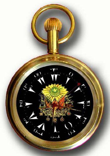 OTTOMAN EMPIRE INSIGNIA Turkey Commemorative Pocket Watch w. Original 17 Jewel Swiss Mechanical Movement