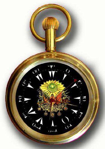 OTTOMAN EMPIRE INSIGNIA Turkey Commemorative Pocket Watch w. Original 17 Jewel Swiss Mechanical Movement
