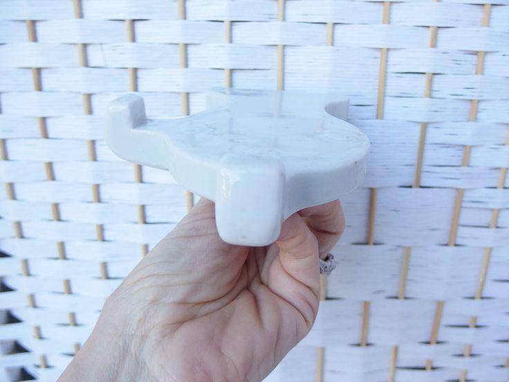 Vintage Mid Century Bathroom White Porcelain Shelf Brackets Holders Fixture Wall Mount by DarkCityDameVintage on Etsy