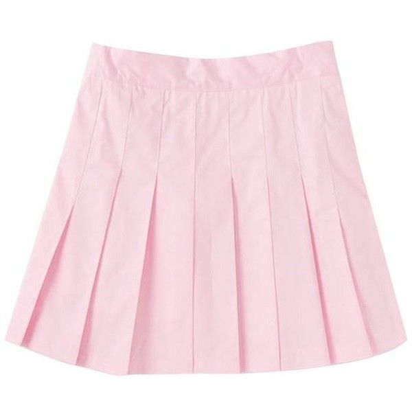 【50%OFF】プリーツスカート ピンク ❤ liked on Polyvore featuring skirts, bottoms, pastel and spinns