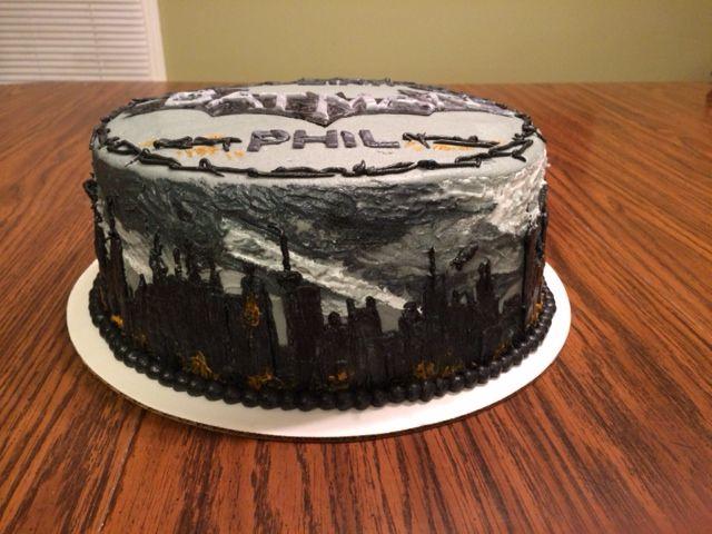 batman arkham city cakes cityscape - Cuisine En Rkham