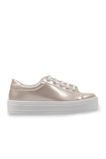 Sneakers Metallizzate a Specchio Rosa