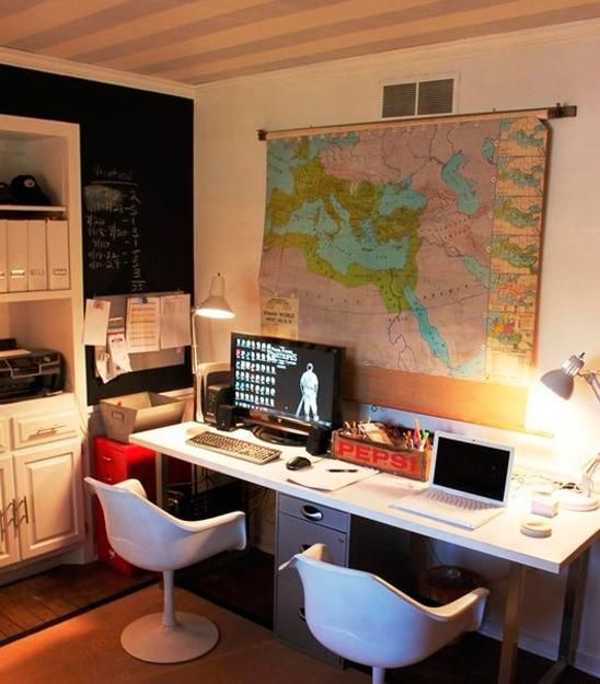 Space Saving Built In Office Furniture In Corners: 17 Best Ideas About Small Home Offices On Pinterest