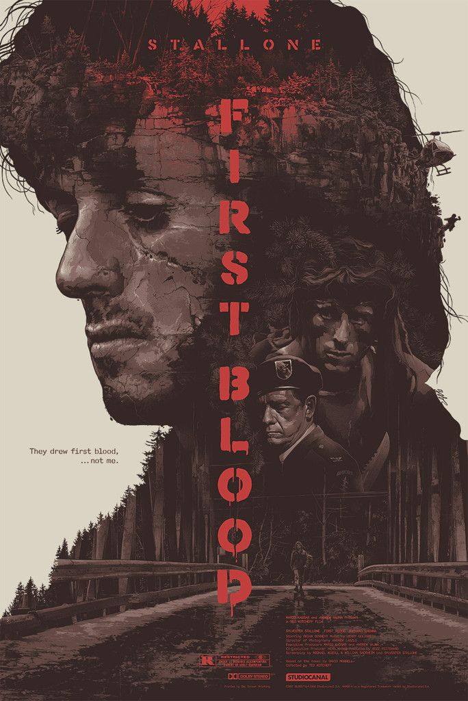 Artist Grezegorz Domardzki whipped up this great tribute poster for the classic Sylvester Stallone Rambo film, First Blood